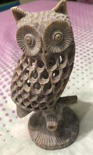 Moonstone art handcrafted owl extreme