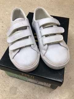 Polo Ralph Lauren White school shoes