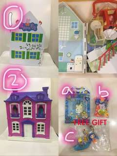 Peppa pig playhouse + Free gift