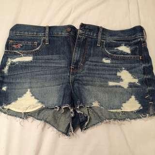 Hollister short牛仔短褲