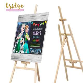 Event Poster Board on Easel