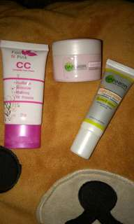 CC cream,pelembab dan serum