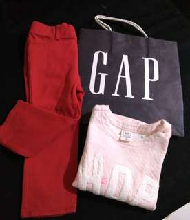 Baby Gap Jeggings and Top Set