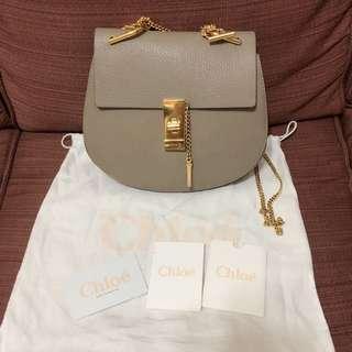 Chloe Drew Bag(Small)grey