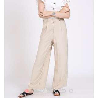 Supergurl ULTRA COMFY LINEN PANTS (SAND)