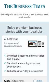 Business Times Subscription Sharing