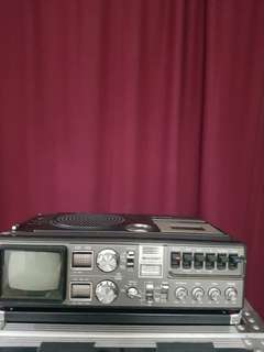 Sharp radio cassette and Tv
