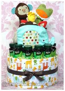 Baby diaper cake / gift (Jungle Adventure)