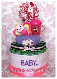 Baby full month Diaper Cake (Garden Friends)