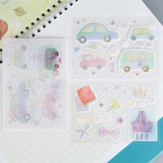 Washi Sticker Set (Bus) (Ref No.: 274)