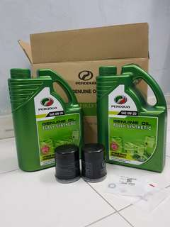 Minyak hitam fully synthetic 4liter free oil filter