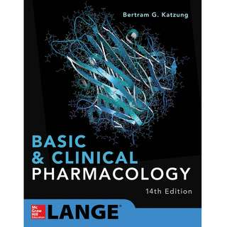 Basic & Clinical Pharmacology 14th Fourteenth Edition by Bertram G. Katzung - McGraw-Hill Education