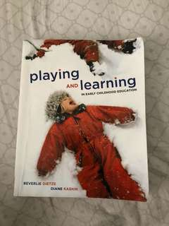 Playing and learning in early childhood education textbook