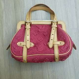 LV knitted bag authentic