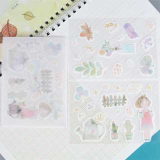Washi Sticker Set (Plant) (Ref No.: 276)
