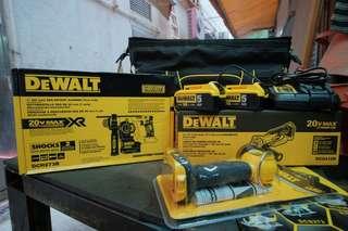 德偉 DEWALT  18V鋰電磁浮油壓鑽+磨機套裝