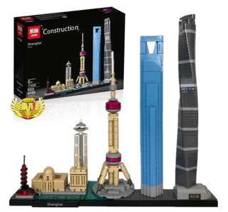 New Arrival Architecture Shanghai Building Block Toy