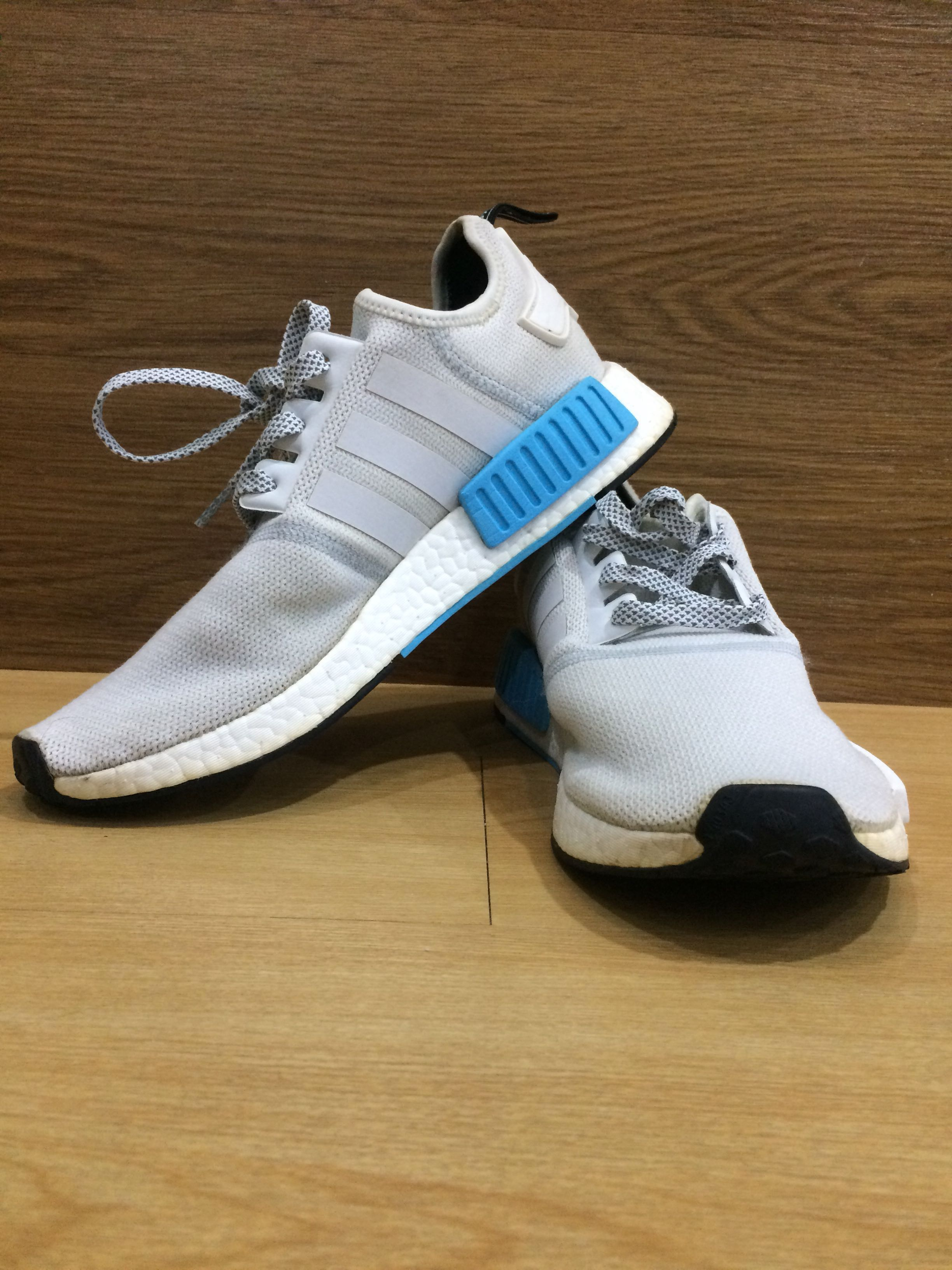 0139909e352b Adidas NMD R1 Runner Nomad White-Bright Cyan