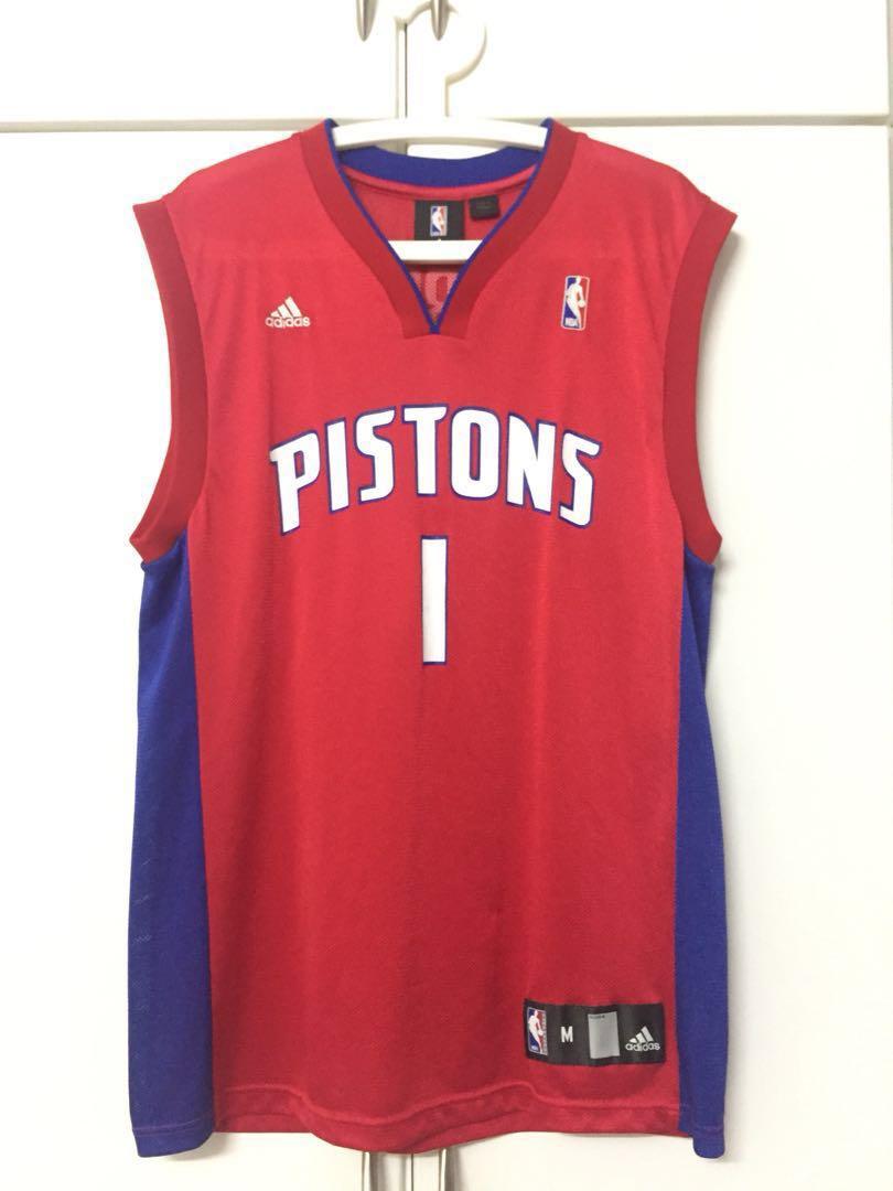 14770cf5b72 Allen Iverson Detroit Pistons NBA Jersey #1, Sports, Sports Apparel ...