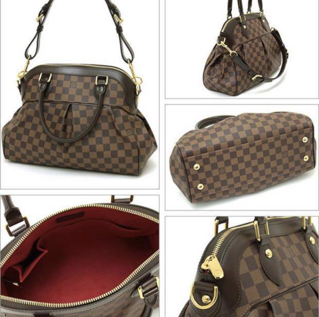 Authentic Louis Vuitton Trevi PM Damier 91f13424a97f4