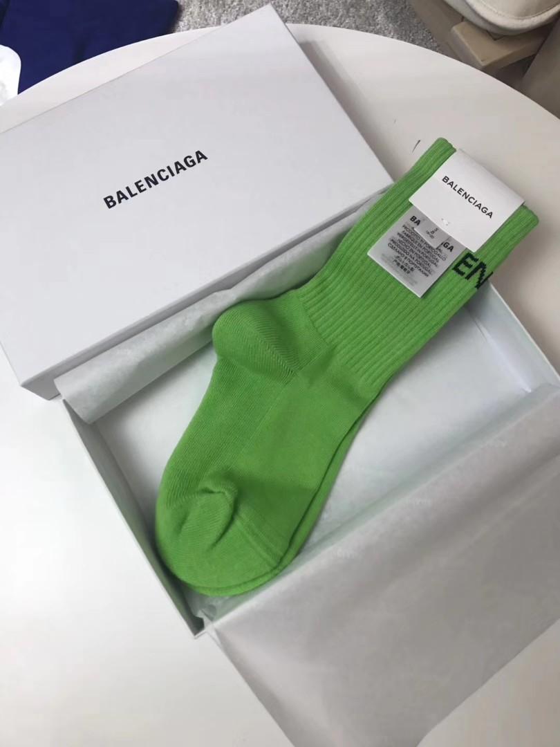 BALENCIAGA SOCKS,GREEN, Women's Fashion