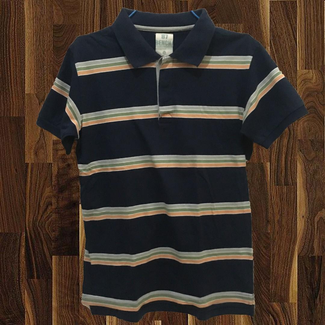 Bench Dark Polo Shirt Mens Fashion Clothes On Carousell