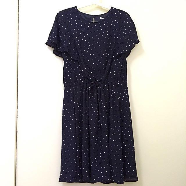 BN Poker Dot Navy Blue Dark Blue Dress
