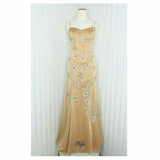 Evening Gown Long Dress Gold Gaun Pesta Gold 6531 Women S Fashion