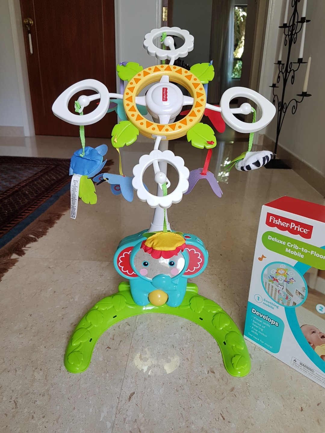 Fisher Price Fisher Price Deluxe Crib To Floor Mobile Babies