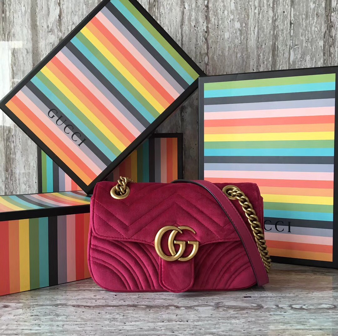 899ea3f3e470 GUCCI GG Marmont Velvet Mini Bag, Luxury, Bags & Wallets on Carousell
