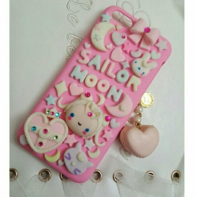 free shipping b96ae f713d Handmade Sailor Moon Decoden Iphone 5C Case, Electronics, Mobile ...