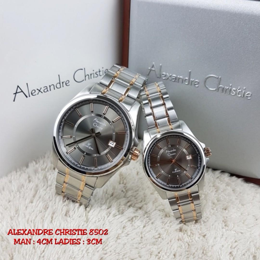 Jam Alexandre Christie 1 Set Ori Preloved Fesyen Wanita Tangan Lihat 6455 Bronze Lady Beranda Photo