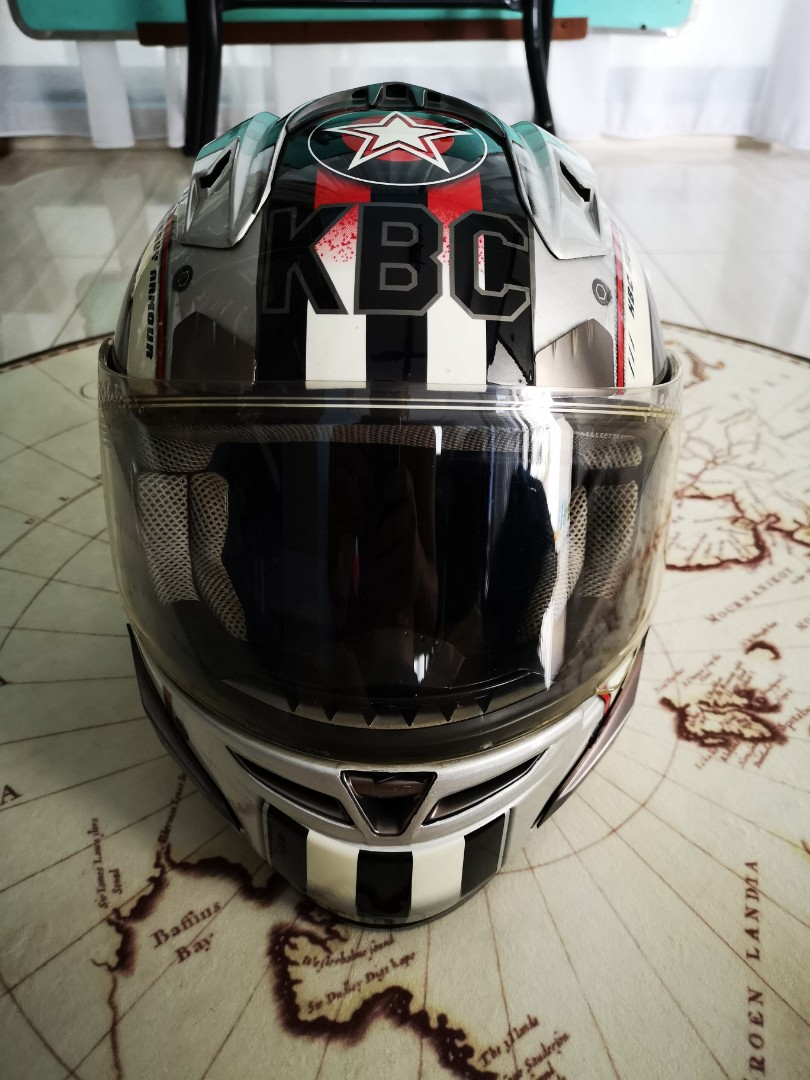 825b6e3d KBC force RR top gun helmet, Motorbikes, Motorbike Apparel on Carousell