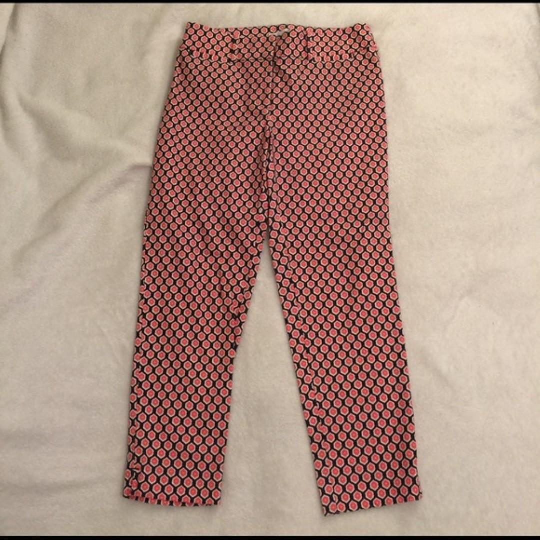 Loft Geo Riviera Cropped Pants in Julie Fit (Size 4)