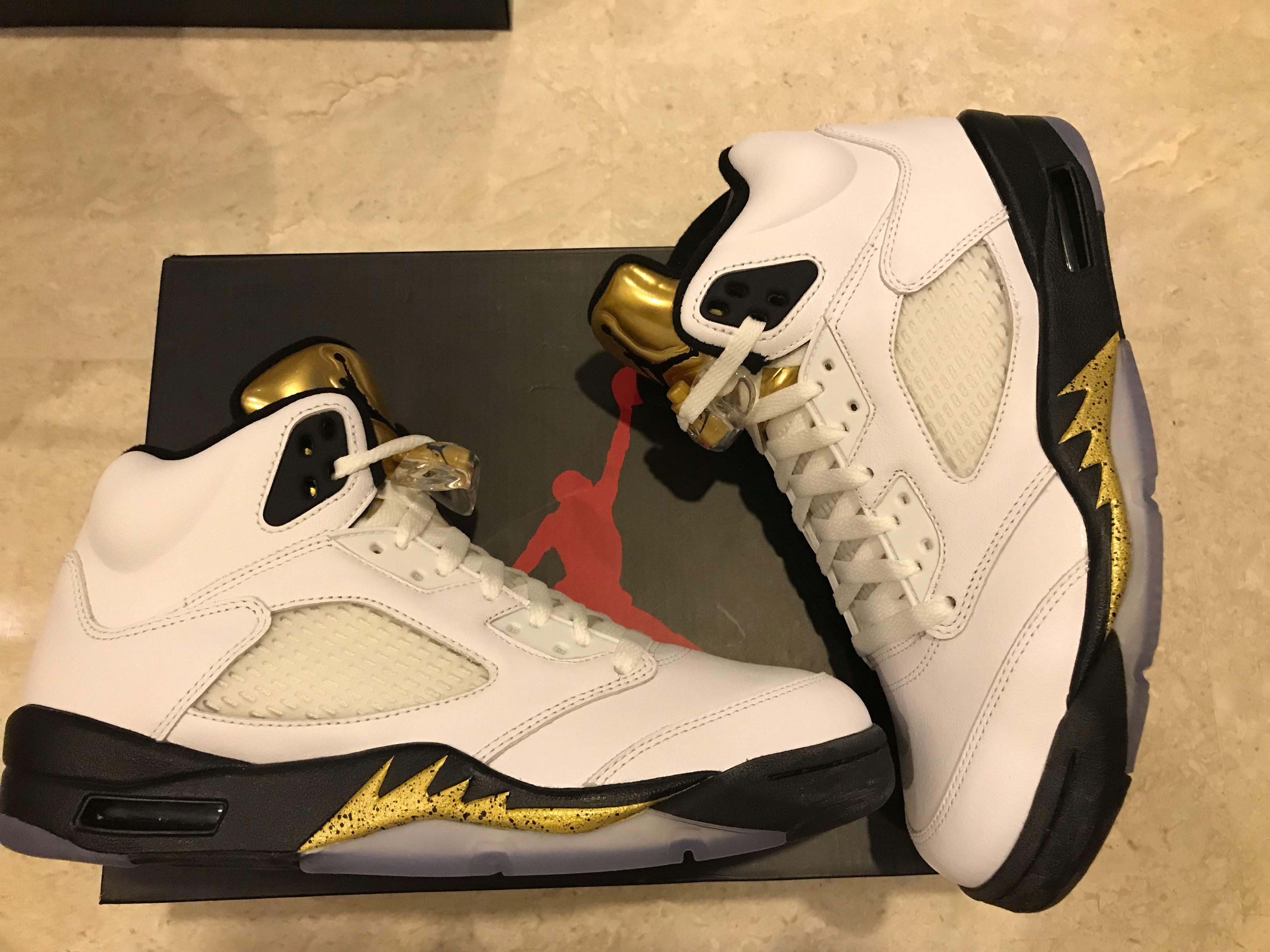 26346733da498 Nike Air Jordan Retro 5 Olympic Gold $300 BNIB, Men's Fashion ...