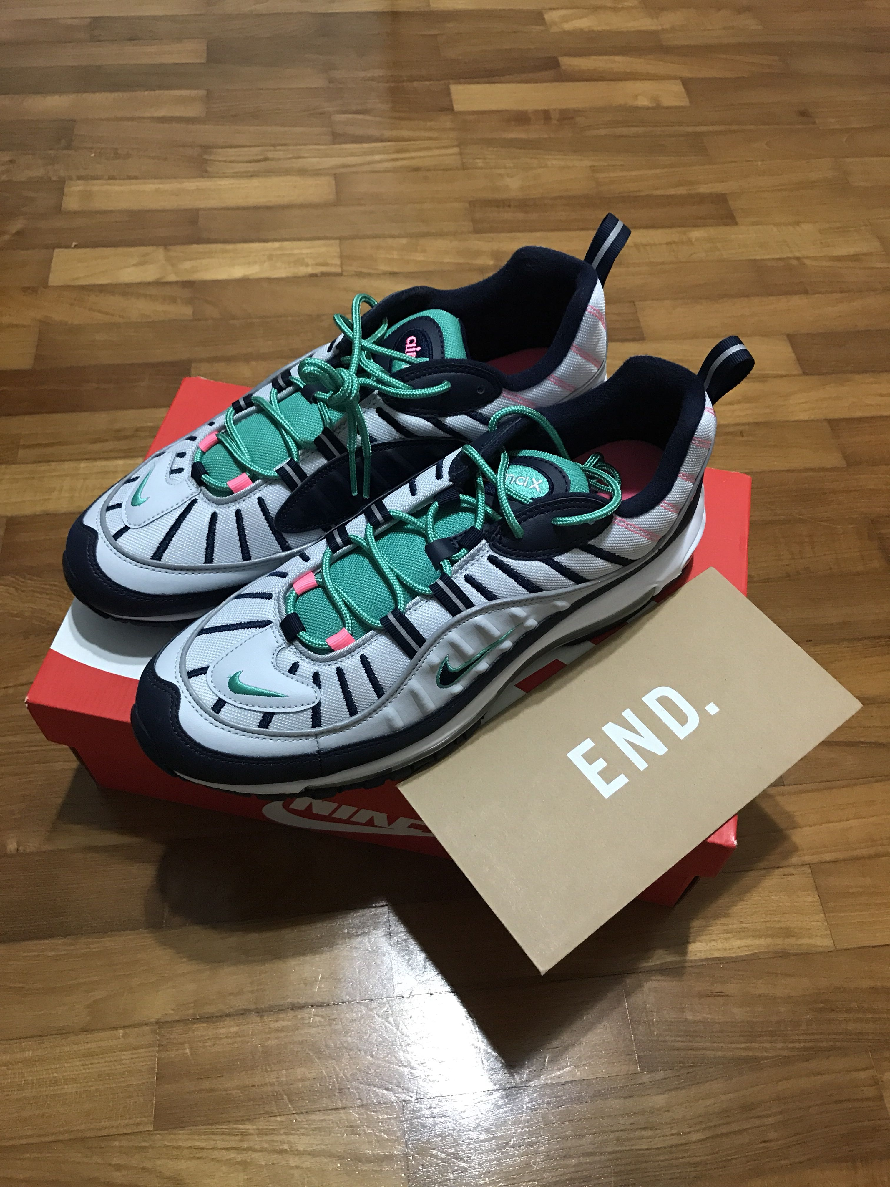 Vuelo cristiandad dolor  Nike Air Max 98 'Miami', Men's Fashion, Footwear, Sneakers on Carousell