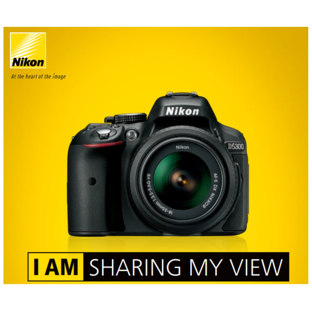 Nikon D5300 18 55mm Kit Lens Dslr Original Official Where To Get Parts Diagram For A D5000 Slr With Dx Vr Afs Photography On Carousell