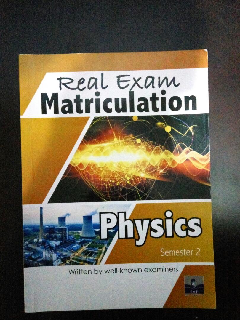 Real Exam Matriculation Physics - Semester 2