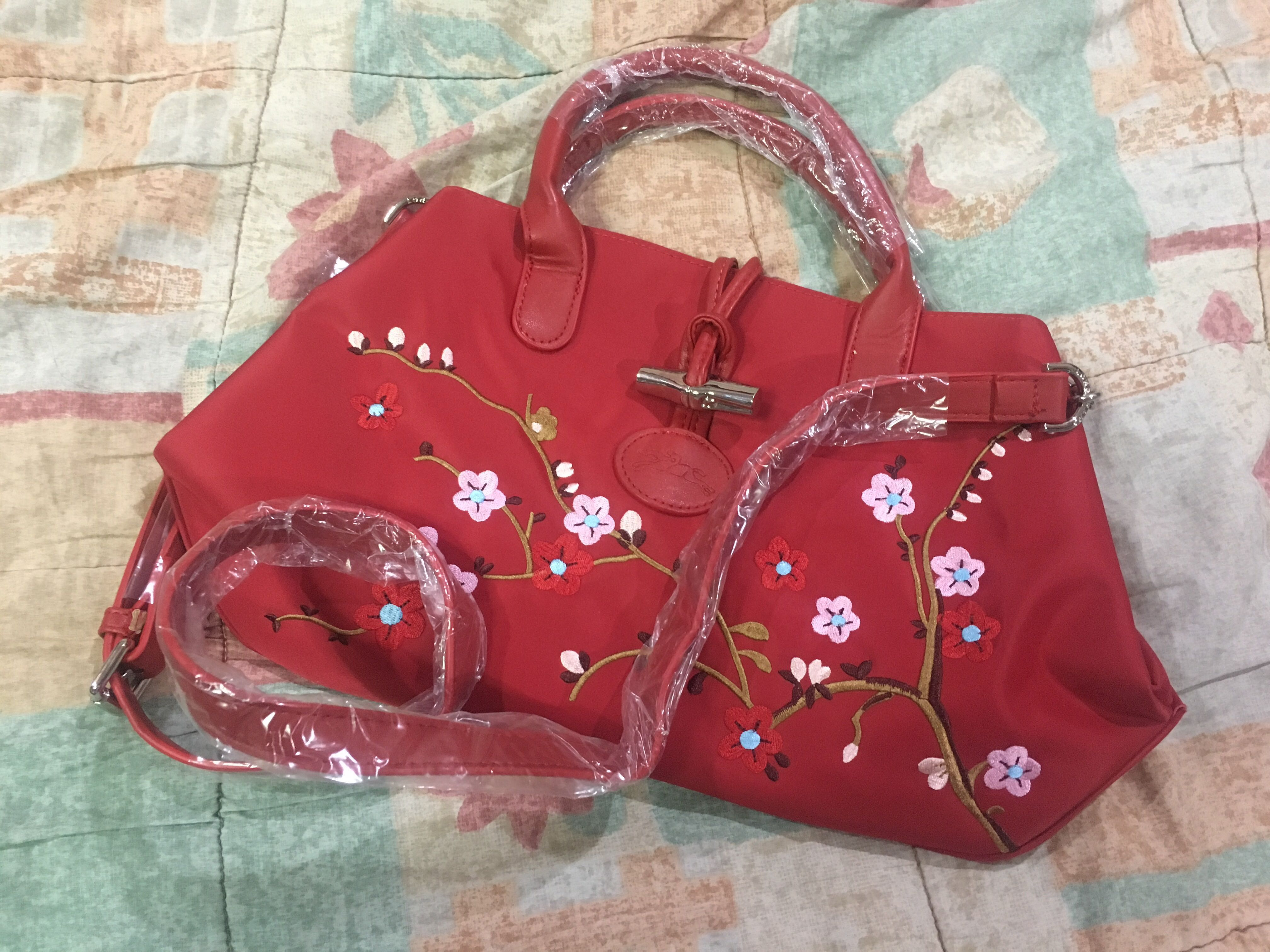 107ee9f43c57 REPRICED Longchamp Floral Bag (small)