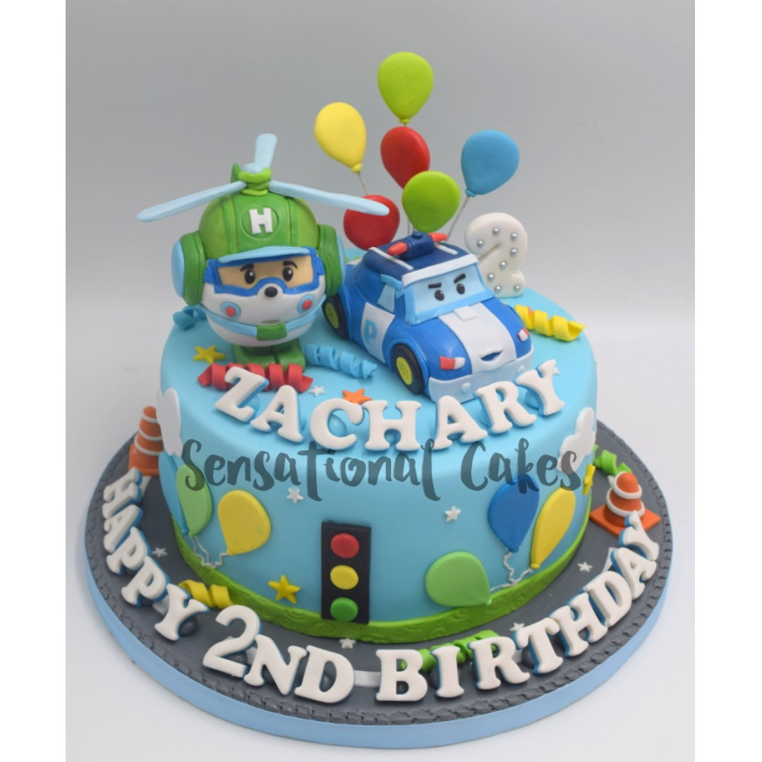 Peachy Robot Police Car And Heli Theme For Boys Birthday Cake Personalised Birthday Cards Epsylily Jamesorg