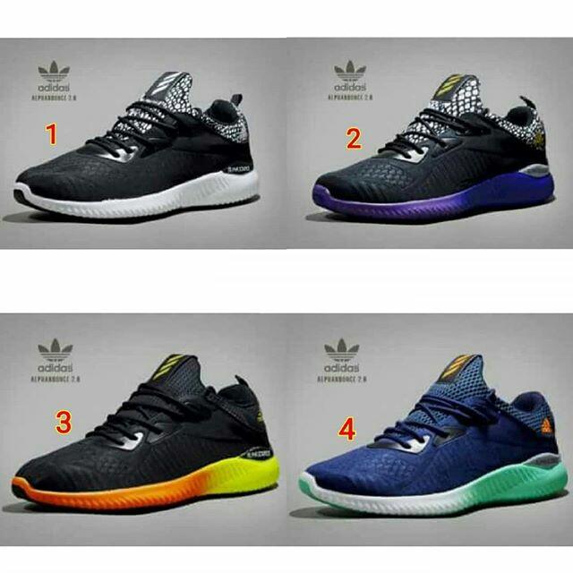 Sepatu adidas alphabounce original ori asli pria cowok terbaru 2018 murah  branded hitam biru hijau navy kuning fb4ae76759
