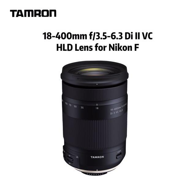 Tamron 18-400mm f/3.5-6.3 Di II VC HLD Lens for Nikon F, Photography ...