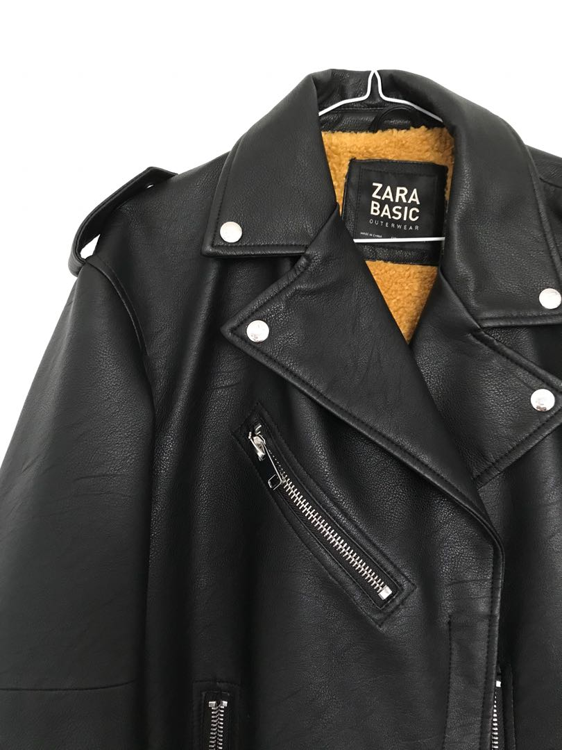 Zara Oversized fit Leather Jacket XS-M
