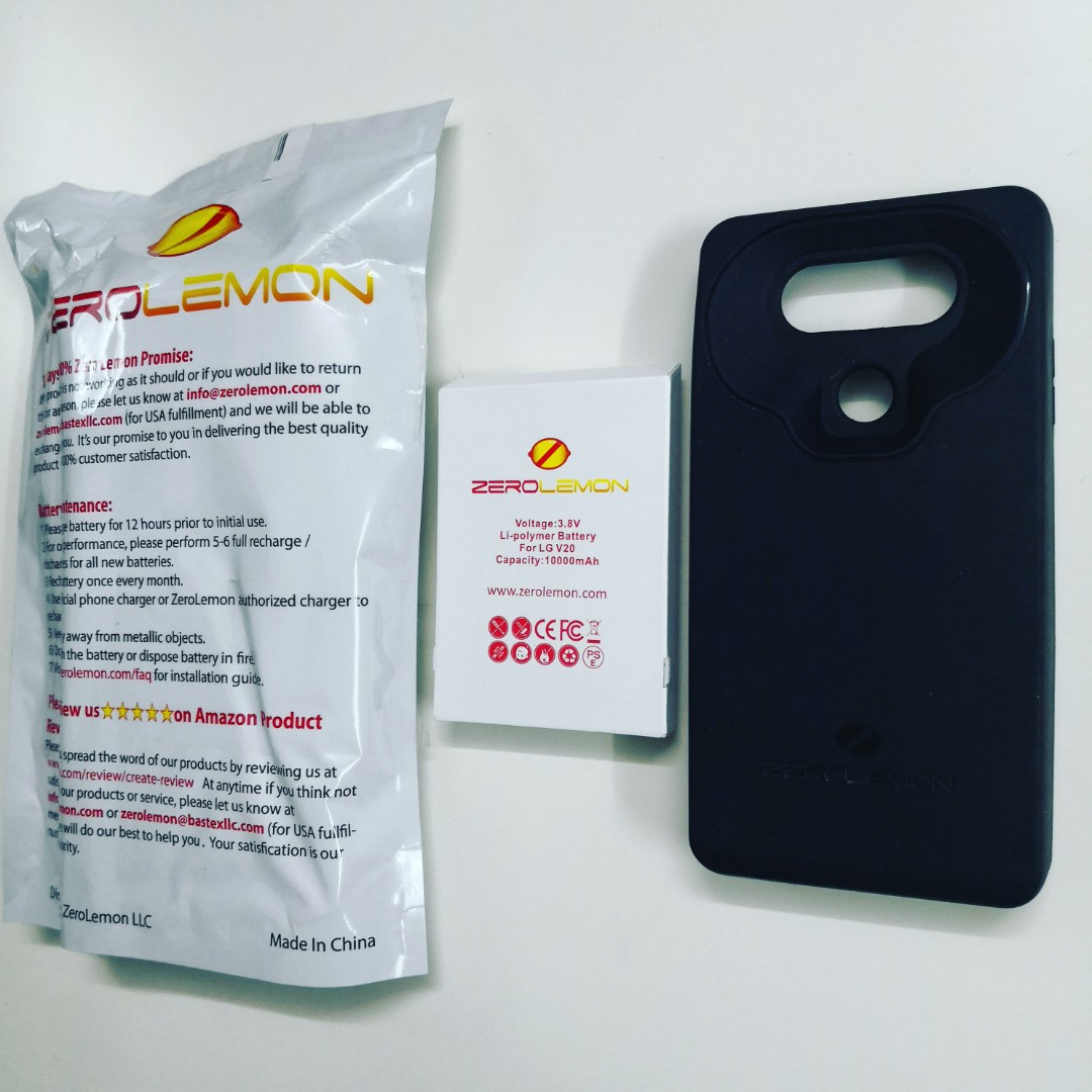 brand new 723d4 ab342 ZeroLemon Battery for LG V20 (10,000 mAh, Original)