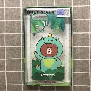 🚚 LINE Friends iPhone7 Plus iPhone8 Plus 軟式保護殼—恐龍熊大款