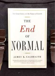 "# Highly Recommended《New Book Condition + The Rise of ""New Normal"" Trend For Social Politic, Finance & Economy In New Era》James K. Galbraith - THE END OF NORMAL : The Great Crisis and the Future of Growth"
