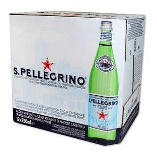 costco線上代購 #56076 San Pellegrino 聖沛黎洛 天然氣泡水 750毫升X12瓶