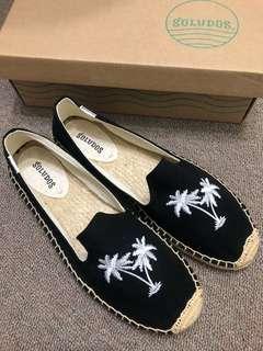 🚚 美國品牌Soludos全新椰子樹刺繡藤編草鞋US10