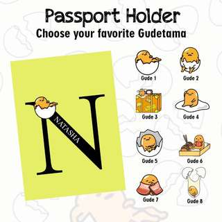 Custom Personalised Passport Cover - Gudetama
