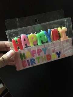 生日蠟燭 happy birthday candle